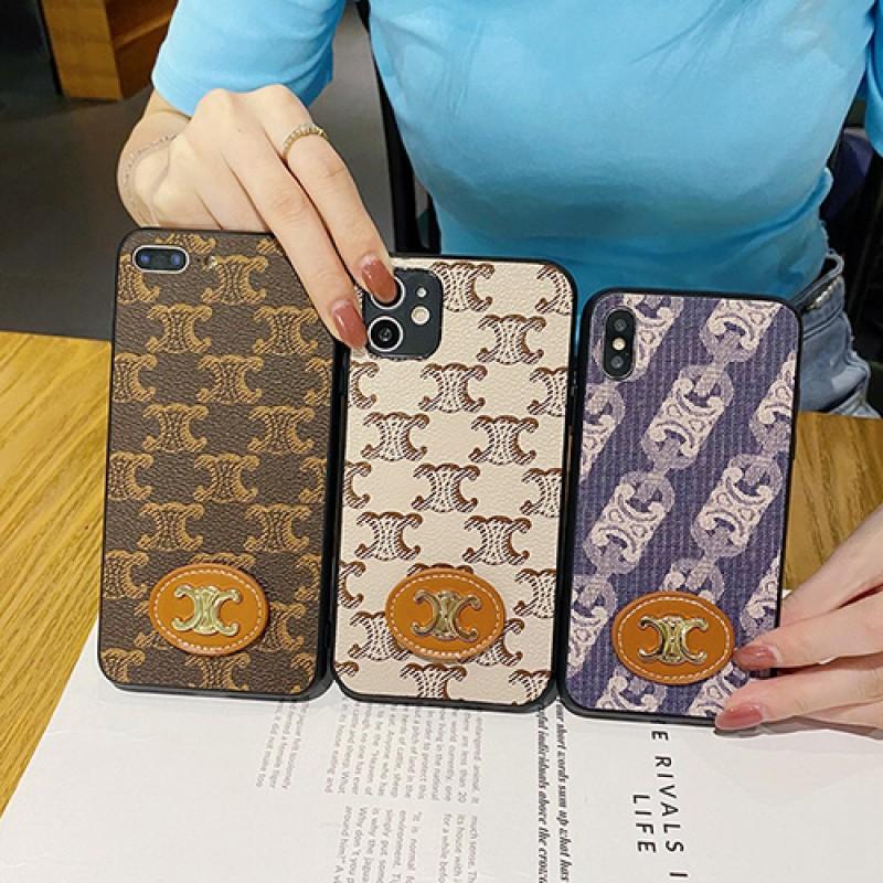 celine iphone13 pro max 13 12 mini case cover  leather luxury brand iPhone 12 Pro Max Mini 11 X Xr Xs 7 8  brand case