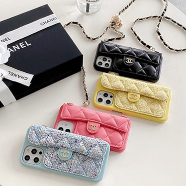Luxury designer Chanel classic case for iPhone 12/13 Pro Max with chain CC Case lady talent Wallet Shockproof Protective Designer iPhone Case