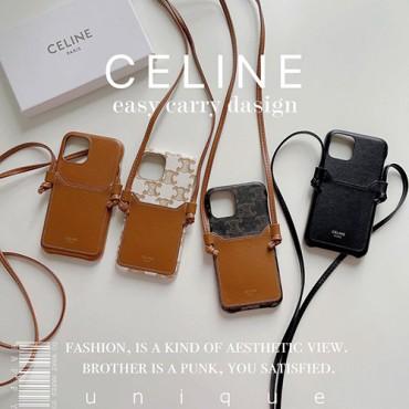 celine strap iphone 13 pro max 13 mini case Unisex  Leather iPhone 13 pro max 12 11 xs xr cover Leather Card Holder Cross Body