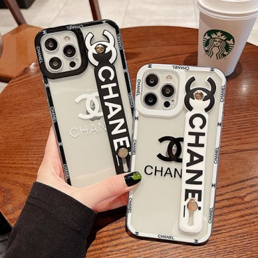 Wristband Chanel pair iPhone13 13 pro max 13 mini 12 Cases Wrist Strap Stand Chanel Case Cover for Apple iPhone XsMax / XR / XS / X / 8Plus / 8 / 7Plus / 7 / 6SPlus / 6S / 6Plus / 6