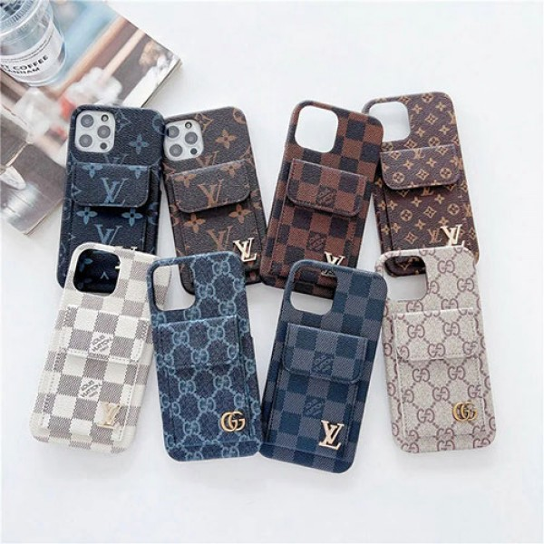 gucci lv Luxury Leather iphone 13 pro max 13 mini cover case Monogram Damier Card Holder Leather Designer iPhone Case For iPhone 13 12 11 SE X XS XS Max XR 7 8 Plus