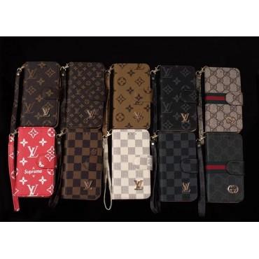 lv wallet Flip iphone 13 pro mini Case leather supreme gucci  iphone 13 12 pro max galaxy s21case Louis Vuitton Style Monogram Magnetic Flap Wallet Leather Cardholder