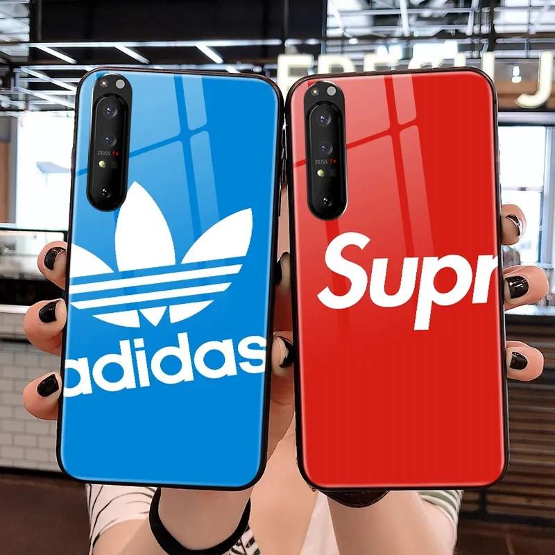 adidas Glass fashion iphone13 Anti-fall Phone Cover